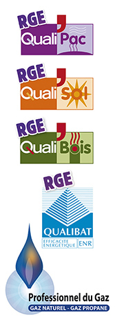 qualifications RGE, qualibat, qualibois, qualisol, qualipac, qualigaz