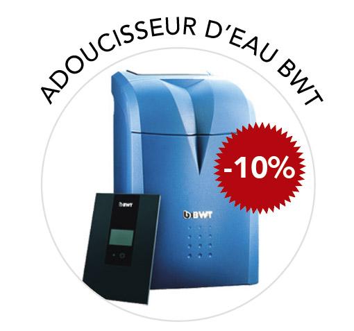 promotion -10% adoucisseur d'eau BWT