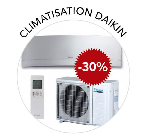 promotion -30% climatiseur daikin