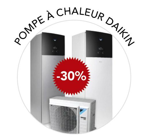 promotion -30% pompe à chaleur daikin